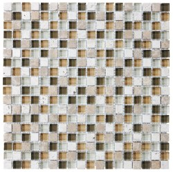 "Bliss Bamboo 5/8"" on 12x12"" Mosaic, per sheet"