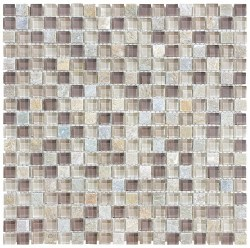 "Bliss Cotton Wood 5/8"" on 12x12"" Mosaic, per sheet"
