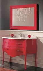 "Paris No.3 Vanity Set in Red Gloss 44.8"""