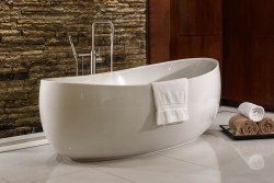 Picasso 66X36 AC Tub Only with Center Drain, in White