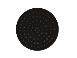 "Ultrathin 10"" Round Shower Head in Matte Black Finish"