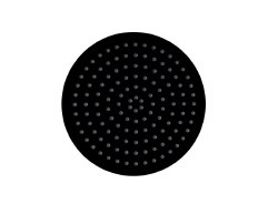 "Ultrathin 12"" Round Shower Head in Matte Black Finish"
