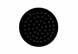 "Ultrathin 8"" Round Shower Head in Matte Black Finish"