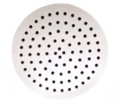"Ultrathin 10"" Round Shower Head in Matte White Finish"