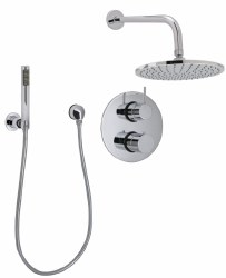 Carmel Thermostatic Shower Package in Polished Chrome, 8 pcs.