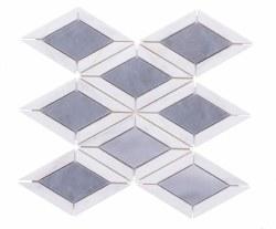 "Diamonds Waterjet Marble Mosaic on 10X10"" Sheet"