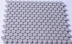 Stainless Steel Circles Mosaic on 11.88X11.88 Sheet