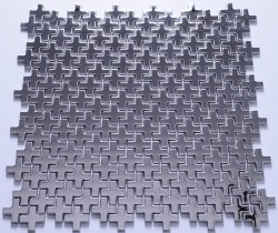 Stainless Steel Puzzle Mosaic on 12.44X12.44 Sheet