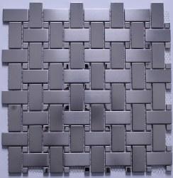 Stainless Steel Basketweave Mosaic on 12X12 Sheet