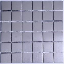 Stainless Steel Squares Mosaic on 11.88X11.88 Sheet