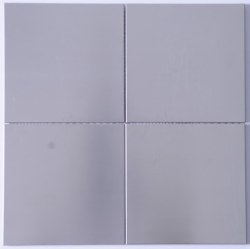 Stainless Steel Large Squares Mosaic on 11.88X11.88 Sheet