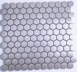 Stainless Steel Hexagon Mosaic on 11.02X11.73 Sheet