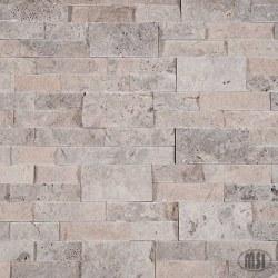Silver Travertine Split Face Ledger Stone, per s/f