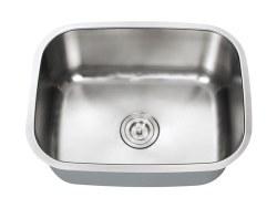 "Universe INDUS 18 Gauge 23-1/2"" Undermount Single Bowl Kitchen Sink in Stainless"