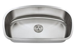 "Universe ARA 18 Gauge 32-7/16"" Undermount Single Bowl Kitchen Sink in Stainless"