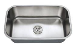 """Universe URSA 16 Gauge 30"""" Undermount Single Bowl Kitchen Sink in Stainless"""