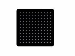 "Ultrathin 10"" Square Shower Head in Matte Black Finish"