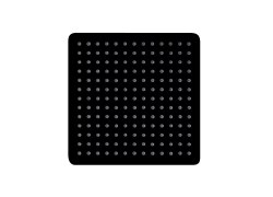 "Ultrathin 12"" Square Shower Head in Matte Black Finish"