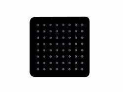 "Ultrathin 8"" Square Shower Head in Matte Black Finish"