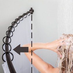 """Curved Shower Rod for 60-72"""" Openings in Brushed Oil Rubbed Bronze"""