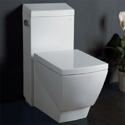 T-336 1-PC Square Elongated 1.28GPF Toilet, in White, TB336