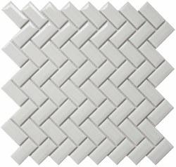 CC White Bright Diamond Herringbone Mosaics on 12X12 Sheet, UFCC119-12M