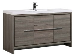 "Granada Novo 60"" Single Sink Vanity Set in Maple Grey"