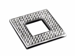 "Diamond Square Knob 2-3/8"" in Polished Chrome with Swarovski"