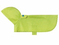 Packable Rain Poncho Lime Halftone, XXS