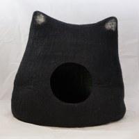 Wool Cat Cave - Kitty, Black