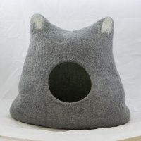 Wool Cat Cave Teal