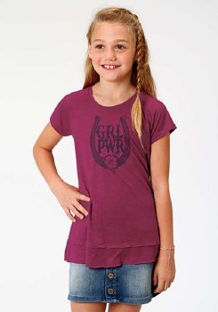 Girl Power Tee Purple MED