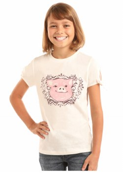 Girls T-Shirt Pig S