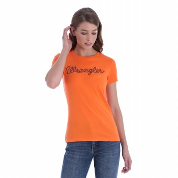 Wrangler Logo Tee Orange MED