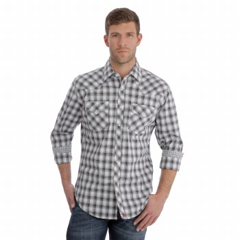 Wrangler 20X Plaid Black/White LG TALL