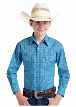 Boys RS Print Turquoise S