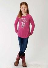Heart Print Jersey Pink XS