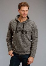 Stetson Applique Hoodie Grey LG REG