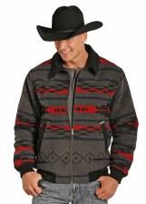 Aztec Wool Bomber Coat Grey XXLARGE REG
