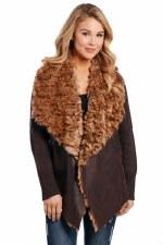 Shearling Knit Jacket Mocha SML