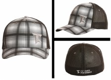 R&R Plaid Cap Grey