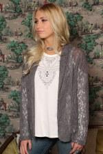 Lace Blazer Grey MED