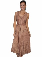 Lds Lace Front Dress Copper SML