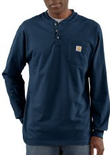 MNS POCKET L/S HENLEY NAVY LARGE TALL