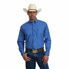 George Strait Print Blue/White XL REG