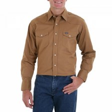 COWBOY CUT WESTERN SHIRT RAWHIDE MEDIUM