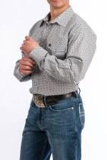 Cinch Western Shirt GRY XXL REG