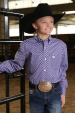 Boys Cinch Shirt Purp MED