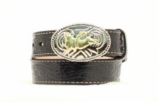 Boys Bullrider Belt Blk 18