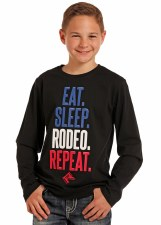 Eat Sleep Rodeo Tee Black XL
